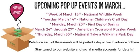 Pop-Up Events by City of Wildwood - March 13, 2017