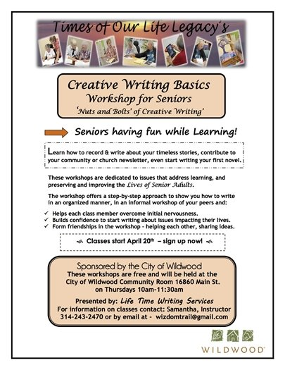 Wildwood Creative Writing Basics - Workshop for Seniors