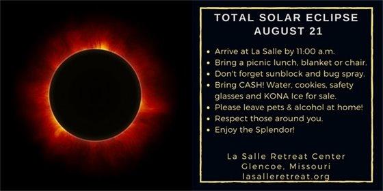 LaSalle Retreat Center's Eclipse Event on August 21, 2017