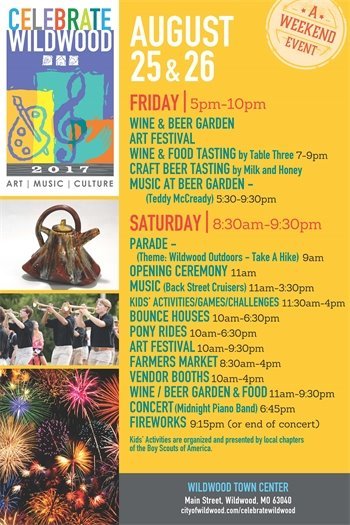 Celebrate Wildwood Poster with Schedule