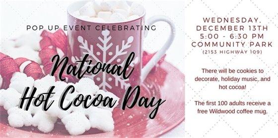 Pop Up Event @ Community Park - City of Wildwood - December 13, 2017