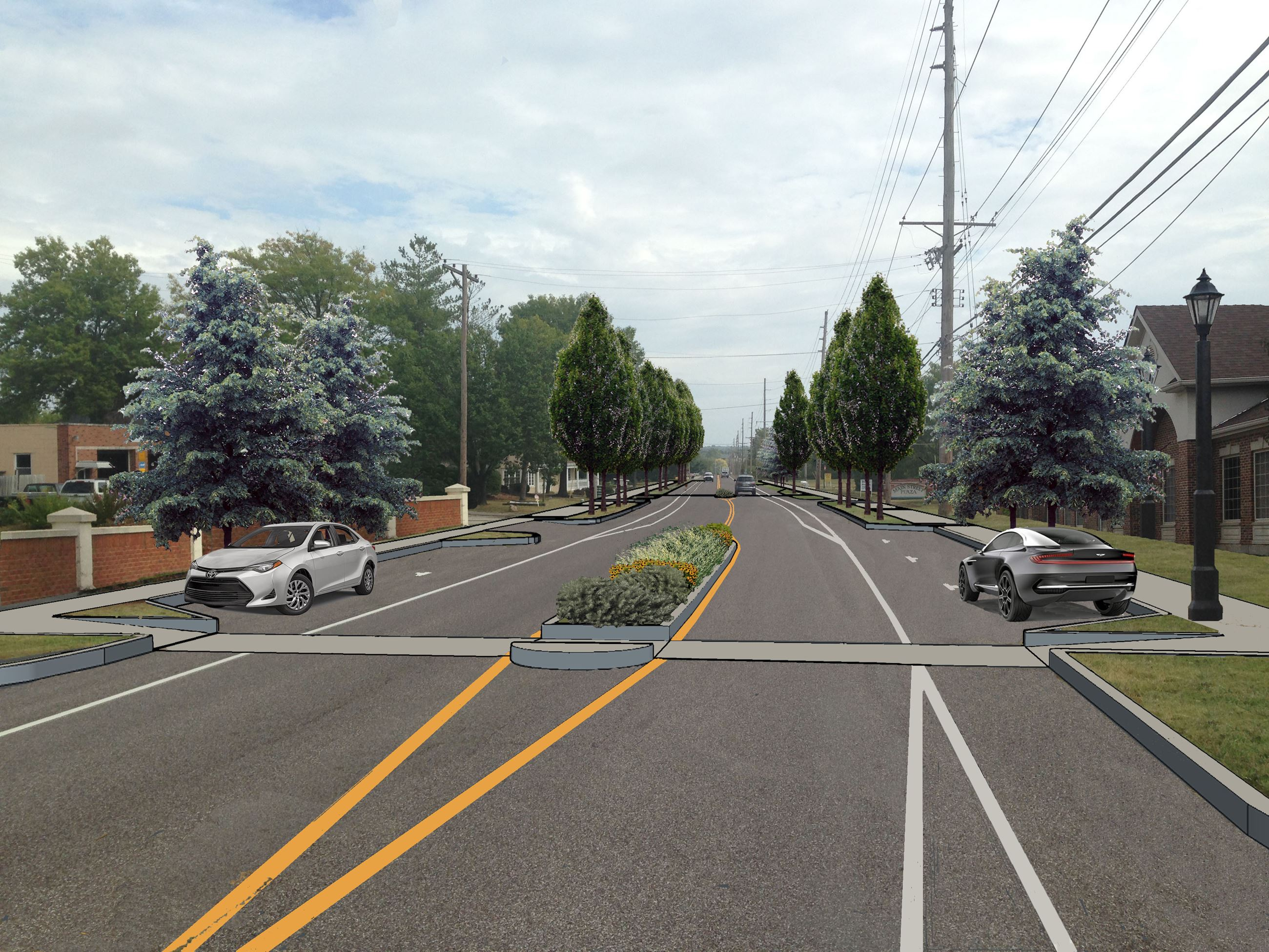 Manchester Rd Looking East at French Hens - Proposed -Rev 10-9-17